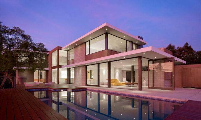 Contemporary House Indoor Outdoor Living Shiny California