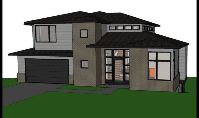 Contemporary House Plan Sloping Lot Youtube