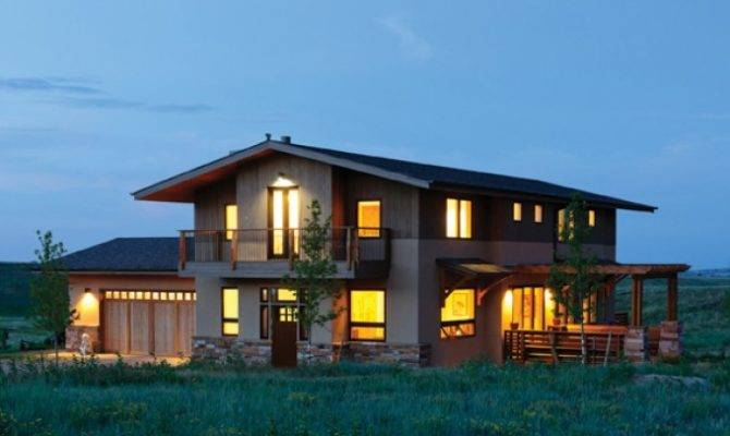 Contemporary House Plan Sunny Prairie Style Home