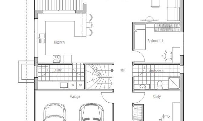Contemporary House Plans Modern Plan Narrow Lot