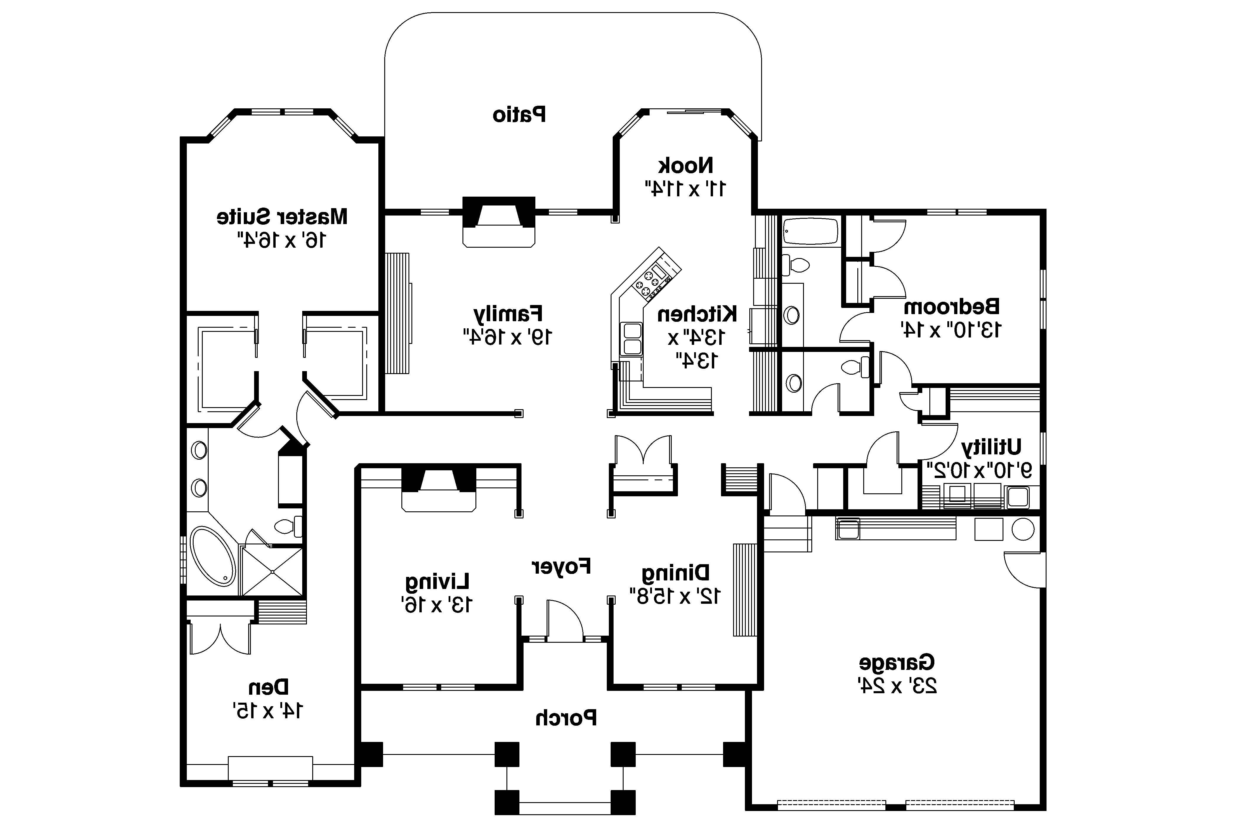 Contemporary House Plans Stansbury Associated