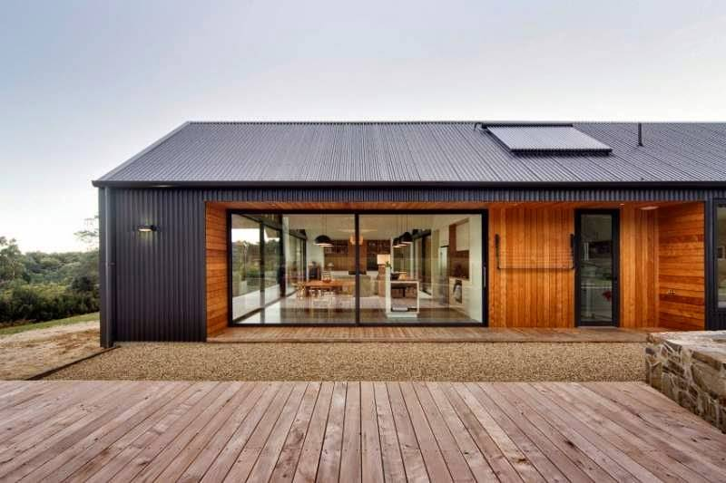 Contemporary House Three Gable Roofs Tasmania