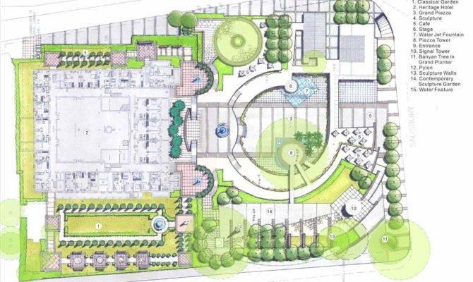 Contemporary Landscape Plan Arch Dsgn