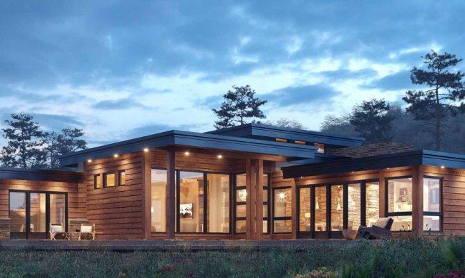Contemporary Log Home Plans Floor House Cantho