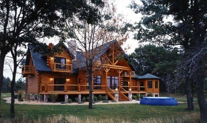 Contemporary Log Homes Modern Cabin