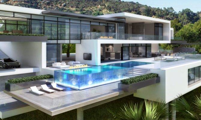 Contemporary Mansions Sunset Plaza Drive Purchase Sale