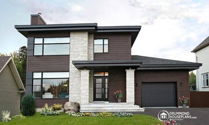 Contemporary Modern House Plan Drummond