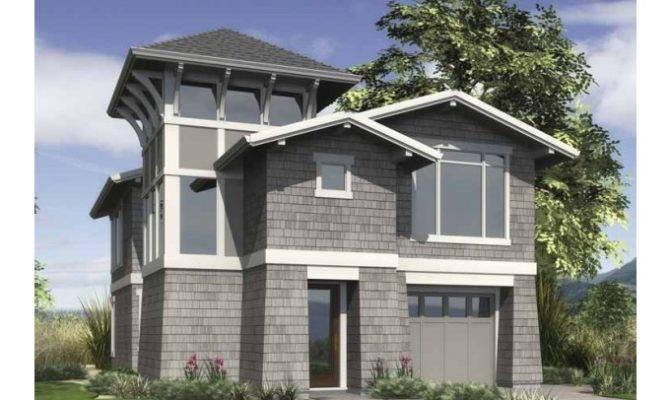 Contemporary Modern House Plan Urban Infill Design
