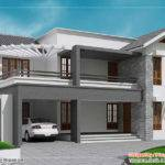 Contemporary Sloping Roof Home Design