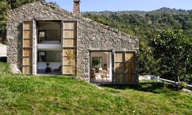 Contemporary Stone House Design Countryside