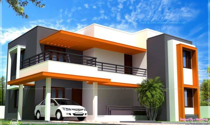 Contemporary Style Villa Home Kerala Plans