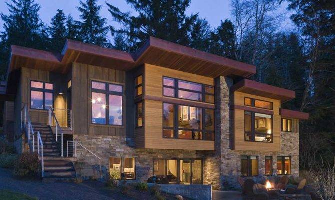 Contemporary Styles Standard Lake House Design