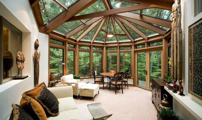 Contemporary Sunrooms Charming Spaces