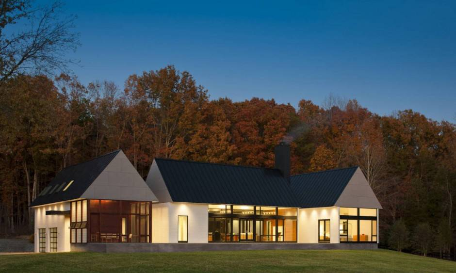 Contemporary Take Warm Country Home