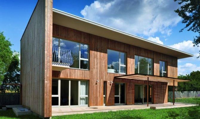 Contemporary Wooden House Design Larix Home Building