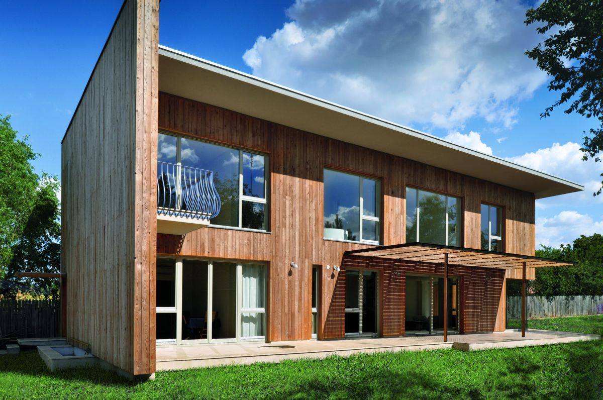 Contemporary Wooden House Design Larix Home Building