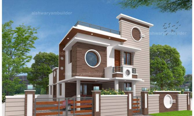 Contractors Chennai Contemporary House Designs