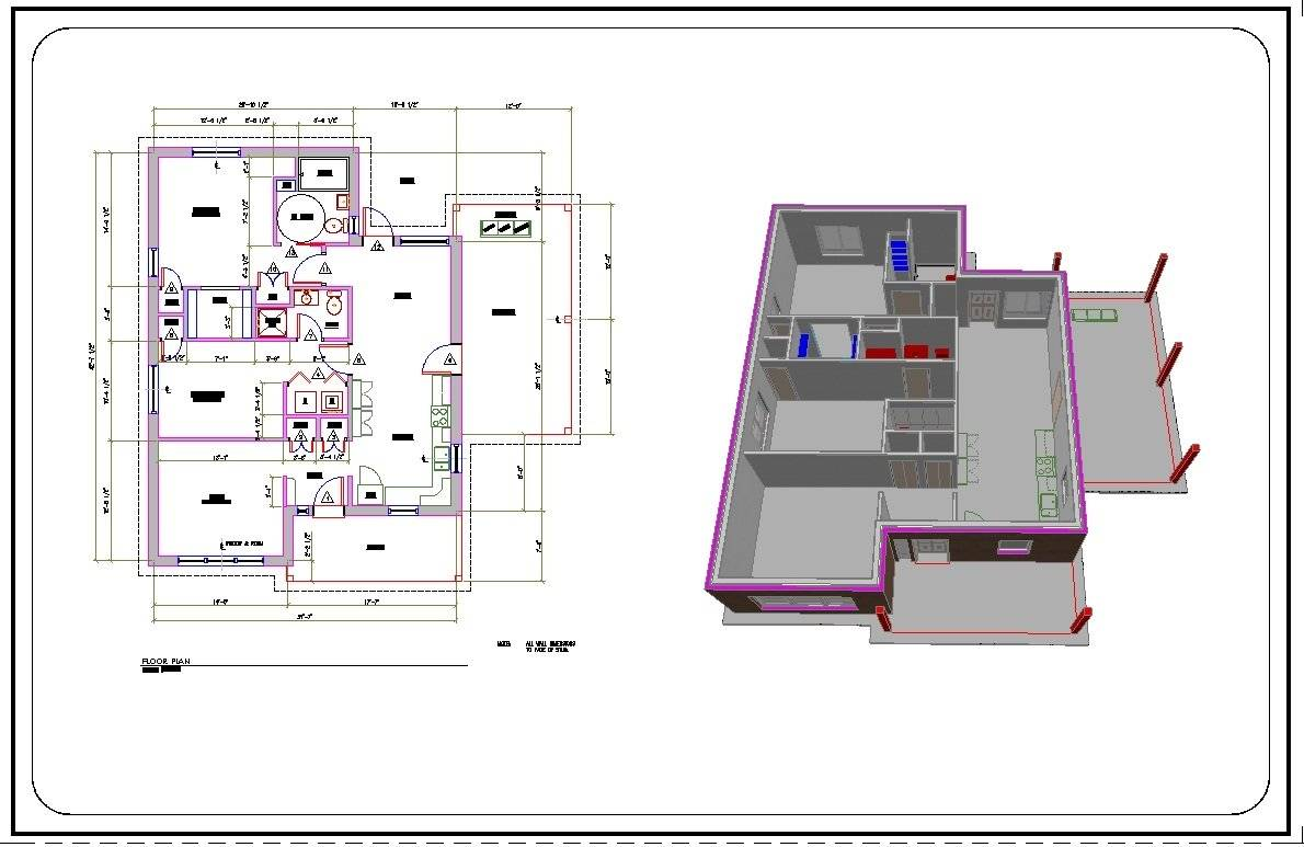 Convert Hand Drawn Floor Plans Cad Pdf Architectural