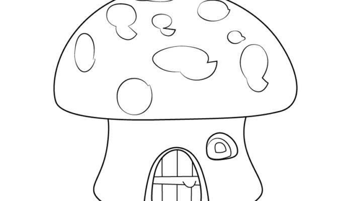 Cool Mushroom House Drawings Learn Draw