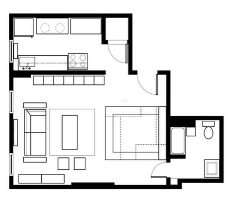 Cool Studio Apartment Layouts