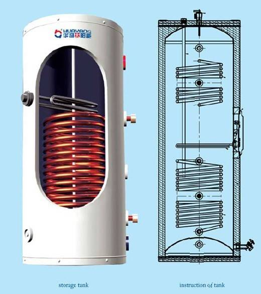 Copper Coil Tank China Solar Water Heater