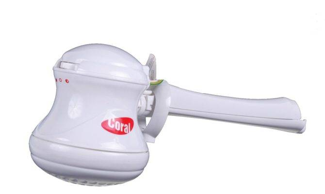 Coral Max Tankless Water Heater Electric Shower Head Tube