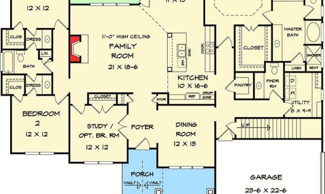 Corner Lot Craftsman House Plan Architectural