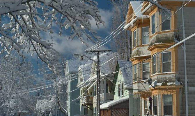 Cottage After Snowfall New Bedford Massachusetts Large