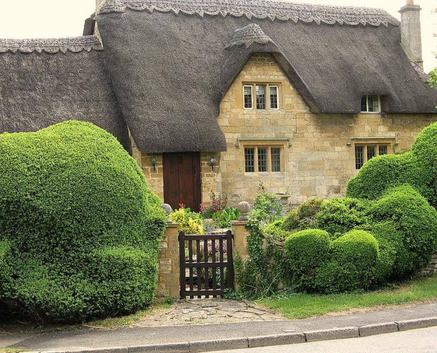 Cottage Cotswolds Thatched Roof Beauty Content