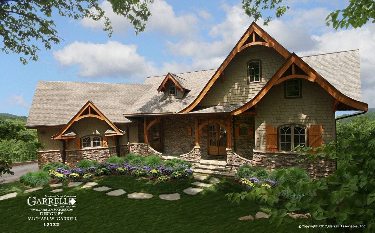 Cottage House Plan Front Elevation Craftsman Style Plans