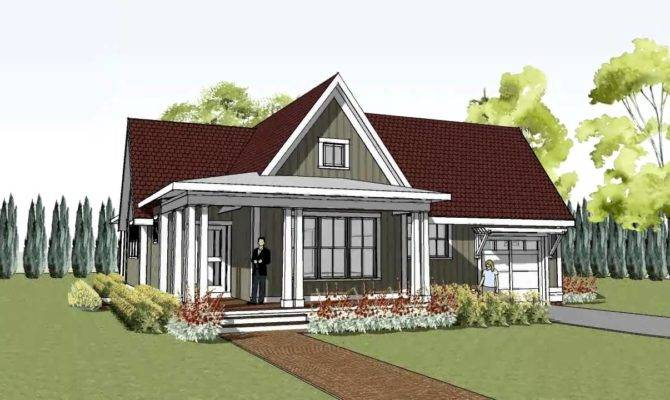Cottage House Plan Wrap Around Porch Hudson Youtube