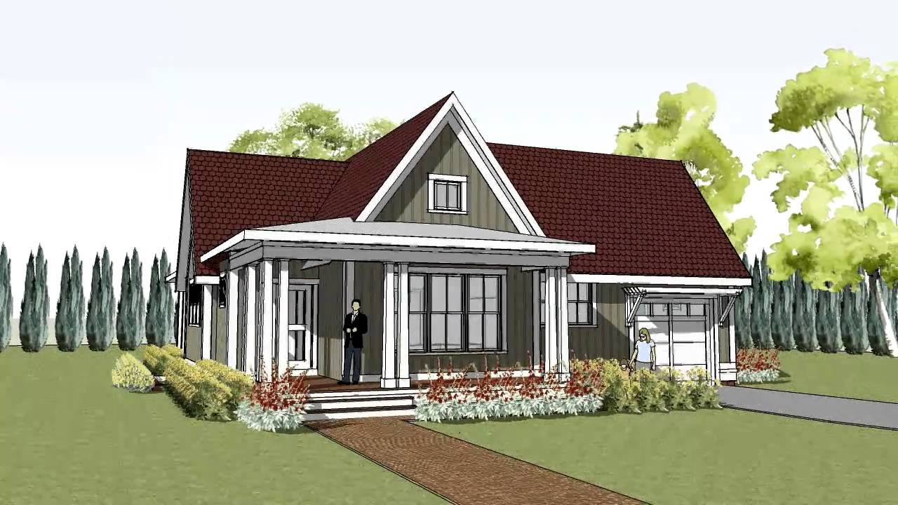 Cottage House Plan Wrap Around Porch Hudson Youtube