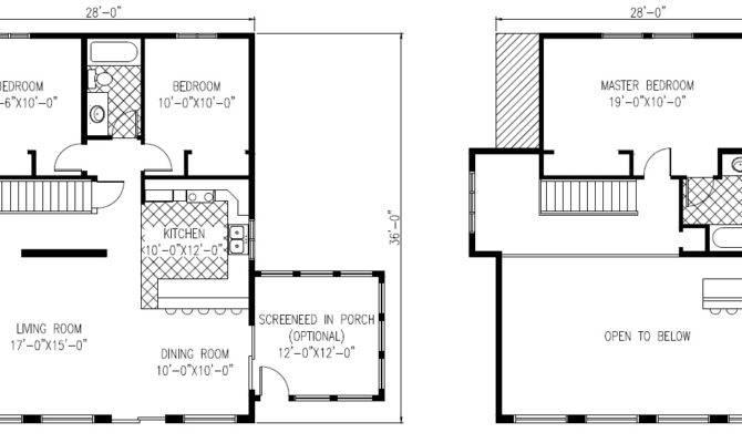Cottage Lakeside Blueprint