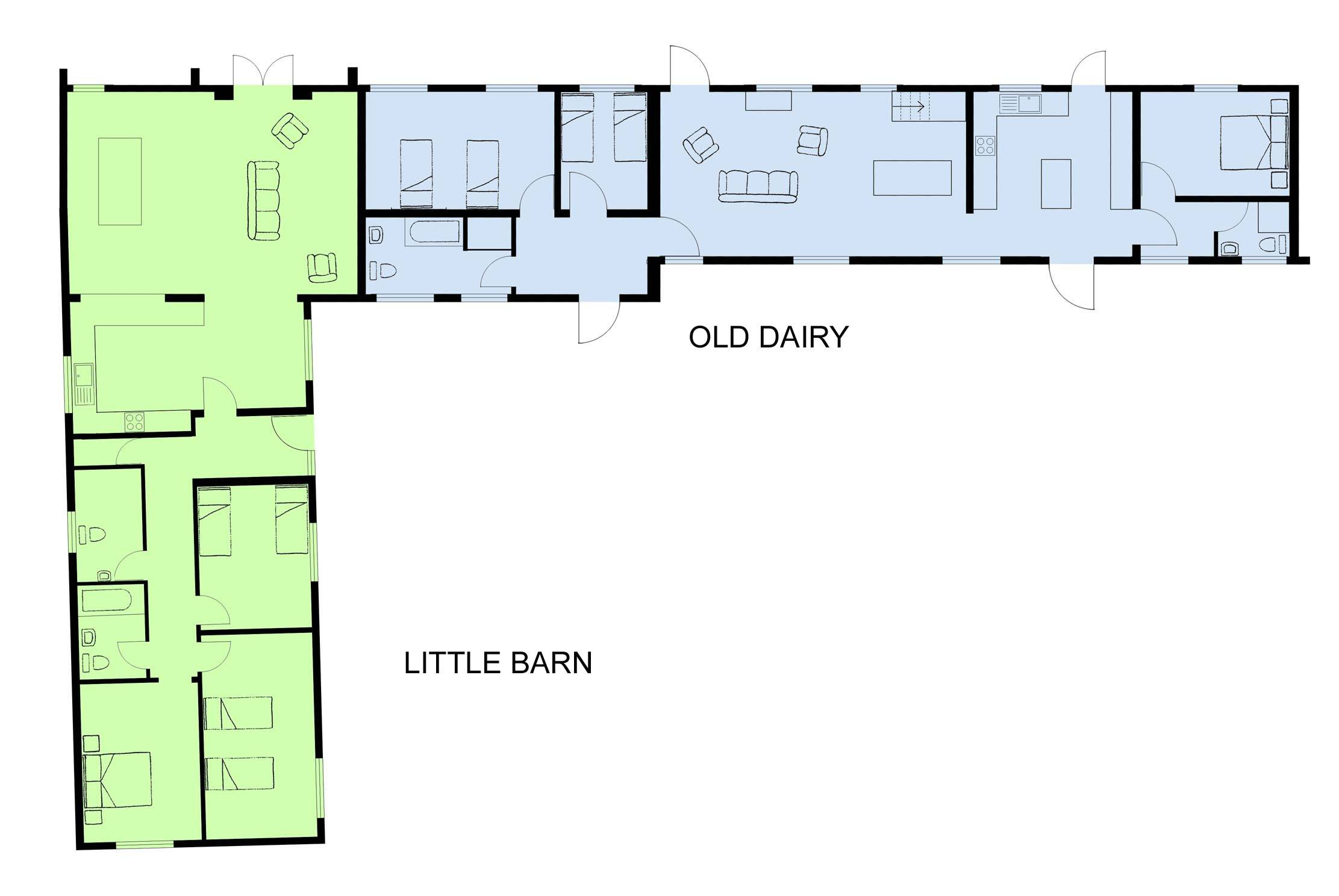 Cottage Old Dairy Little Barn Floor Plans Contact Map