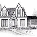Cottage Woods Drawing Charm Grace