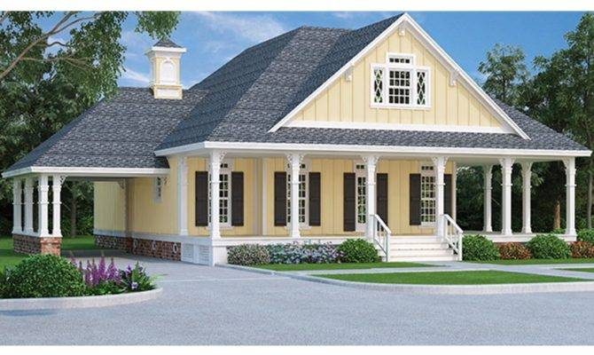 Country Cottage Porte Cochere Hwbdo