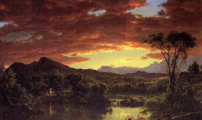 Country Home Frederic Church Artinthepicture