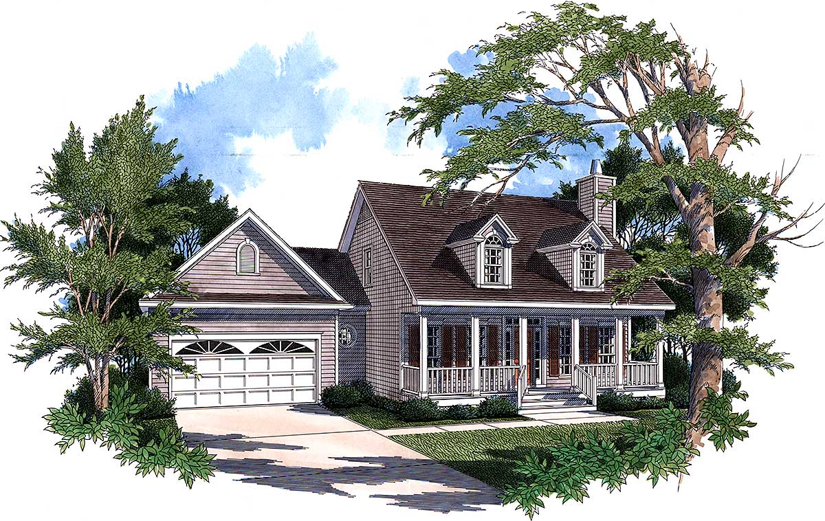 Country House Plan First Floor Master