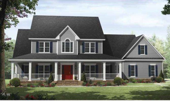 Country House Plan Four Bedroom Square Feet
