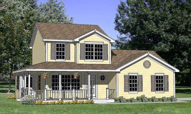 Country House Plan Wrap Around Porch
