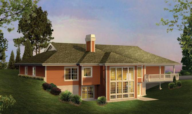 Country House Plans Berm Home Ranch More