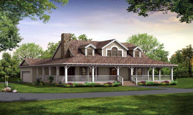 Country House Plans Porches One Story
