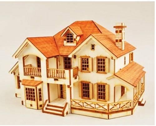 Country House Wooden Model Kit Ebay