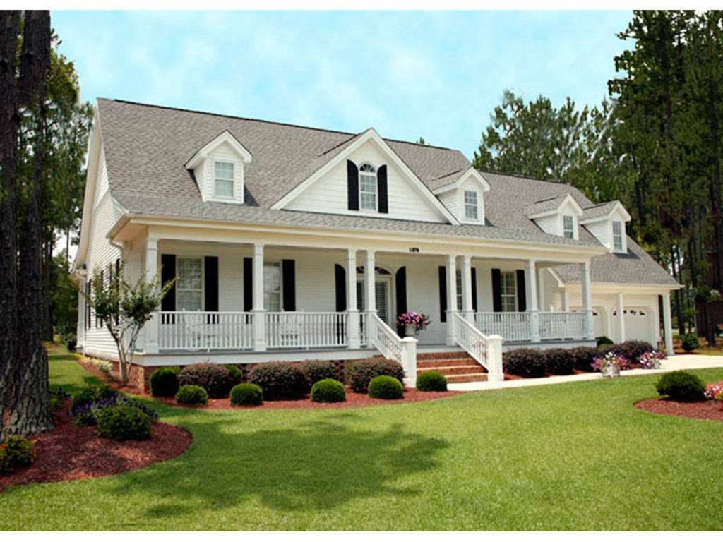 Country Style House Plans Southern Floor Plan Collection Car