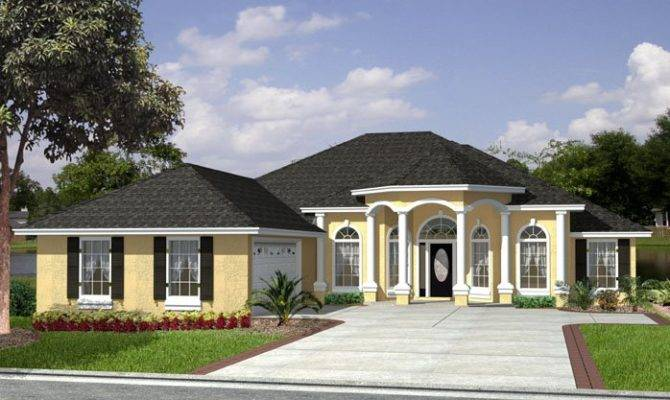 Courtyard Garage Basement Beach House Plan Alp
