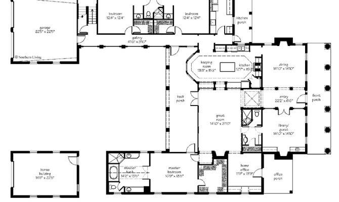 Courtyard Home Plan Houses Plans Designs House