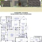 Courtyard House Plans Custom Contemporary Modern