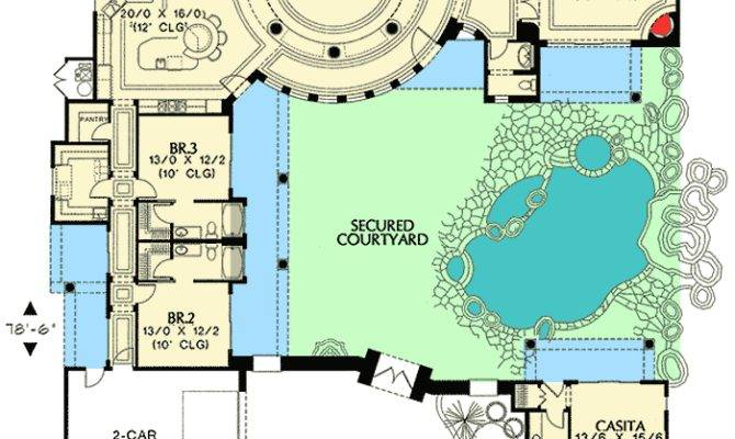 Courtyard Plan Guest Casita Floor