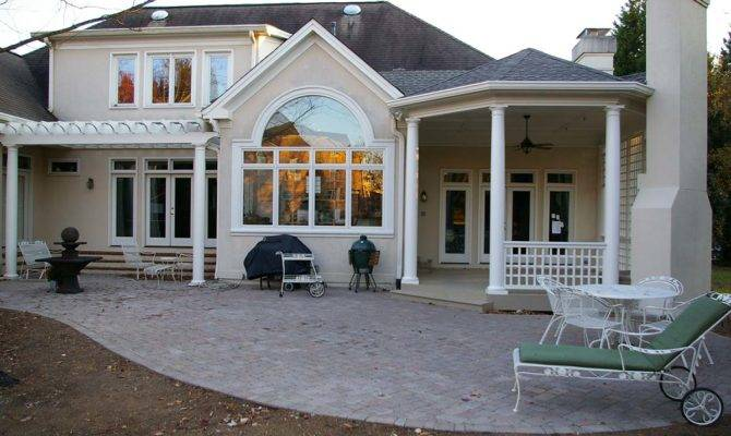 Covered Porch Pergola Home Addition Ideas