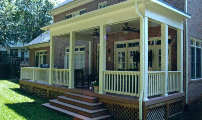 Covered Porches Southern Porch Patio